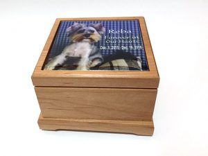 Precious Pet Cemetery - Large Personalized Wooden Urn
