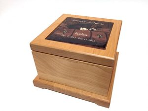 Precious Pet Cemetery - Small Personalized Wooden Urn